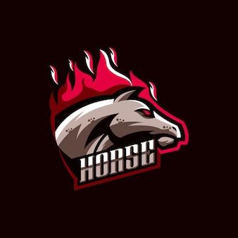 Ilustracja projektu logo konia