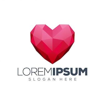 Ilustracja projektu logo miłości
