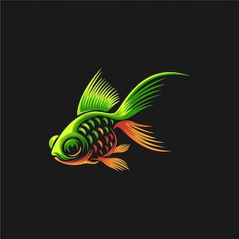 Ilustracja projektu logo ryby