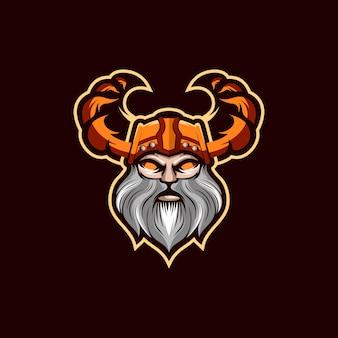Ilustracja projektu logo viking