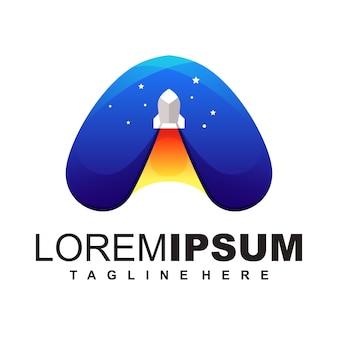 Ilustracja projektu logo wyrzutni rakiet