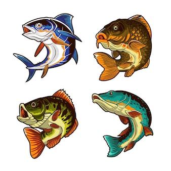 Ilustracja projektu wektora ryb