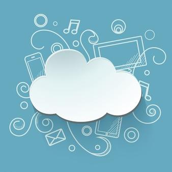 Ilustracja przechowywania w chmurze