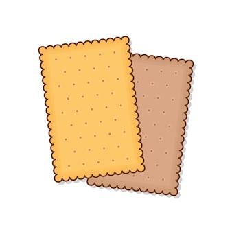 Ilustracja przekąski biscuit cookie.