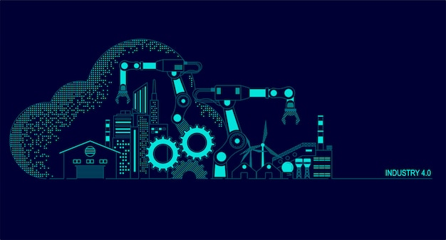 Ilustracja przemysłu 4.0
