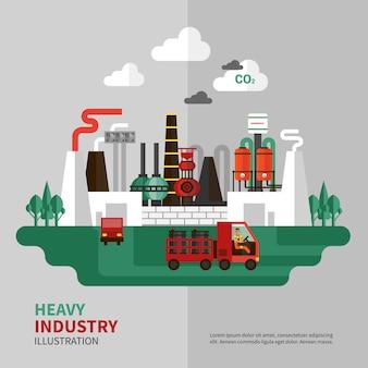 Ilustracja przemysłu ciężkiego