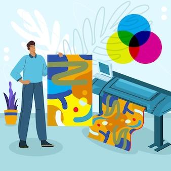 Ilustracja przemysłu poligraficznego