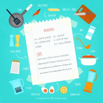 Ilustracja przepis żywności