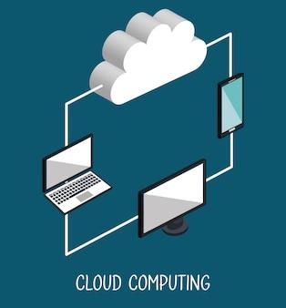 Ilustracja przetwarzania w chmurze