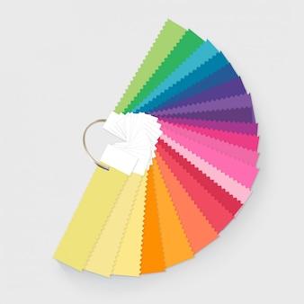 Ilustracja przewodnika po paletach kolorów dla mody i wnętrza domu
