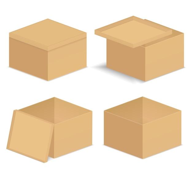 Ilustracja pudełka kartonowe