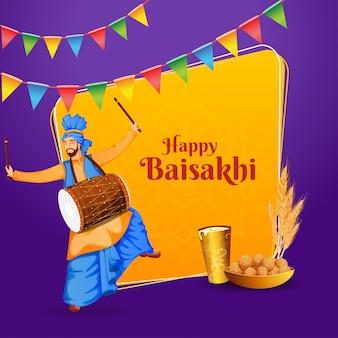 Ilustracja punjabi festiva baisakhi