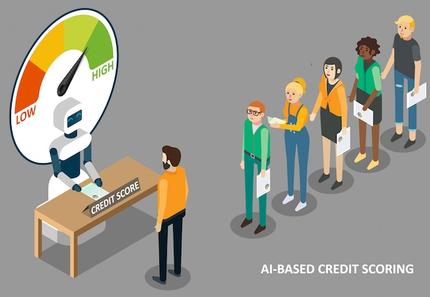 Ilustracja punktacji kredytowej ai