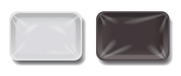Ilustracja puste pojemniki w realistycznym stylu