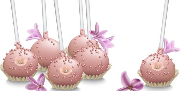 Ilustracja pyszne słodycze
