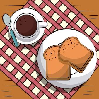 Ilustracja pyszne śniadanie