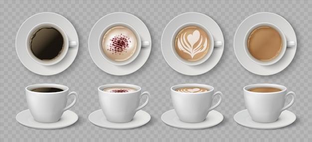 Ilustracja realistyczne filiżanki kawy