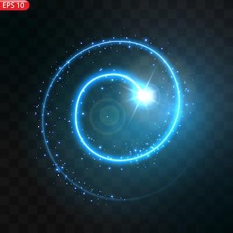 Ilustracja realistycznej komety spadającej na białym tle. spadająca gwiazda meteoru z ogonem