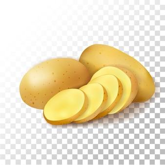 Ilustracja realistyczny ziemniak