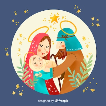 Ilustracja ręcznie rysowane narodzenia