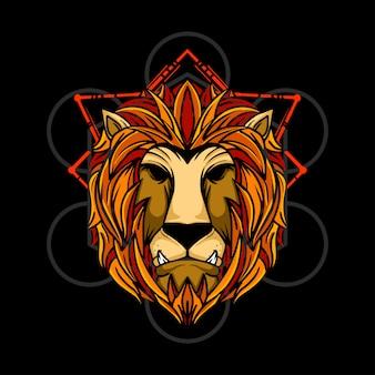 Ilustracja ręka lwa