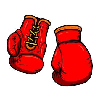 Ilustracja rękawic bokserskich