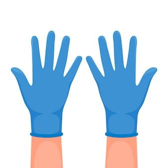 Ilustracja rękawic ochronnych