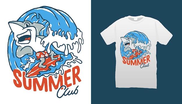 Ilustracja rekina surfingowego