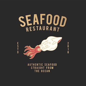 Ilustracja restauracja z owocami morza