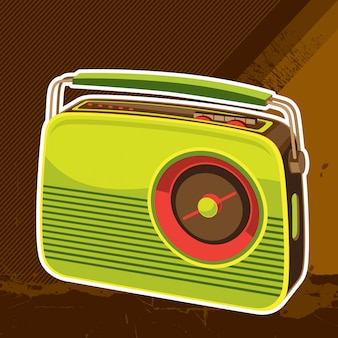 Ilustracja retro radia