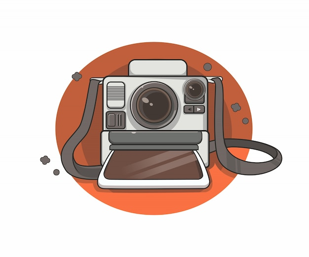 Ilustracja retro starodawny aparat