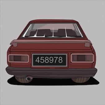 Ilustracja retro, vintage, klasyczny samochód,