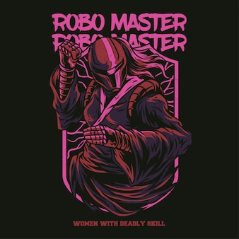 Ilustracja robo master