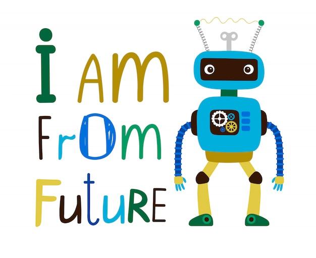 Ilustracja robota dla dzieci