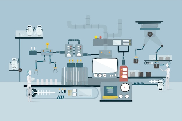 Ilustracja robota wektorowa grafika