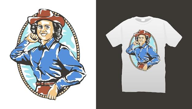 Ilustracja rocznika kowboja