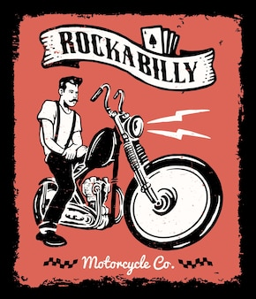 Ilustracja rocznika motocykla
