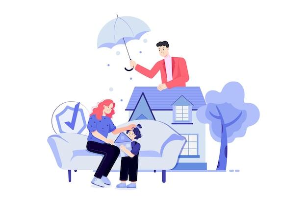 Ilustracja rodzinne ubezpieczenie na życie