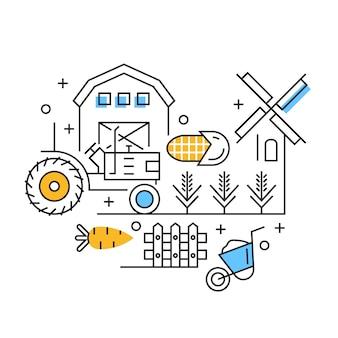 Ilustracja rolnictwa