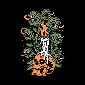 Ilustracja roślin potwora