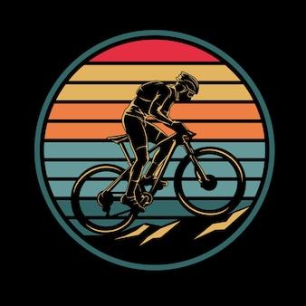 Ilustracja rower górski