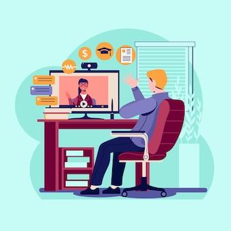 Ilustracja rozmowy kwalifikacyjnej online