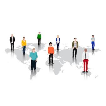 Ilustracja różnorodnych ludzi