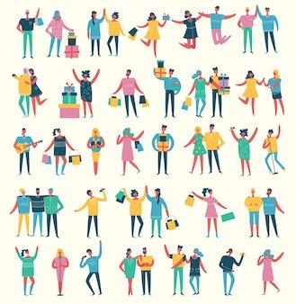 Ilustracja różnych działań ludzi