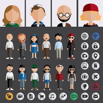 Ilustracja różnych ludzi