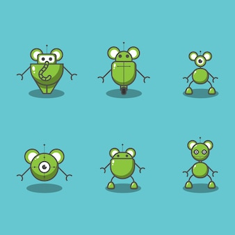 Ilustracja różnych rodzajów robotów myszy
