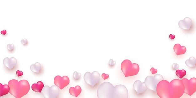 Ilustracja różowe białe balony.