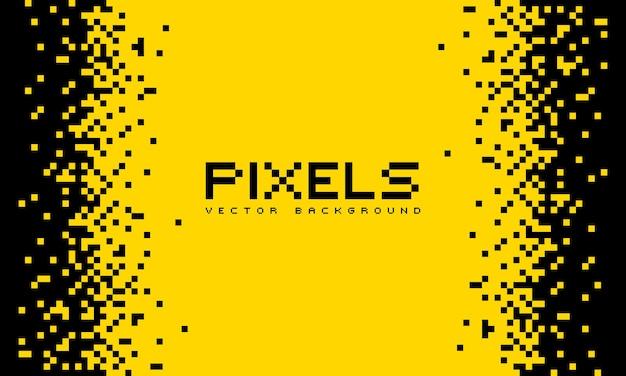 Ilustracja rozpada się lub rozpuszcza na wzór pikseli. wektor koncepcja technologii. miejsce na tekst. styl monochromatyczny. na białym tle.