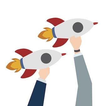 Ilustracja rozpoczęcie działalności rakiet