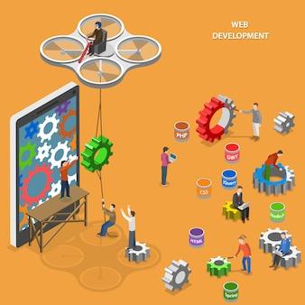 Ilustracja rozwoju sieci